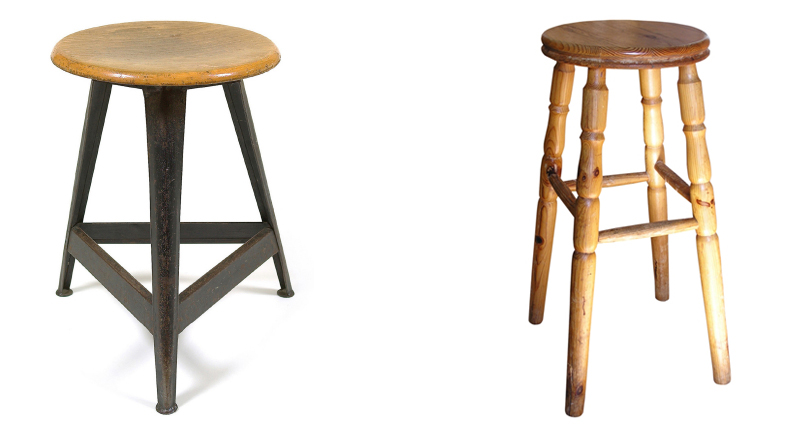 4 Legged Stool ~ Legged mounts